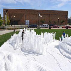 pool noodle landscape #art #installation