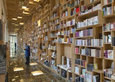 Mexican library renovation by Taller 6A with bookshop covered in boxes