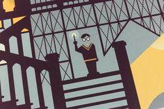Harry Potter Prisoner of Azkaban Screen Printed Poster Illustration