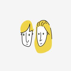 It's you and me green eyes #illustration #cartoon #design #character #icon #vector heads #pairs #boy #girl #eyes #face
