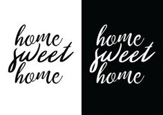#home #sweet #quote #minimalist #font #design