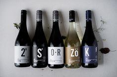 WINELIFE wine labels on Behance #wine #minimalism #typography #leaf #leaves