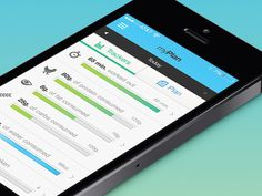 Myplan #trackers #ux #application #health #interface #ui #iphone #digital #fitness