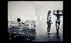The Surf Lodge - Alexandra Whitter #surf #calligraphy #poster
