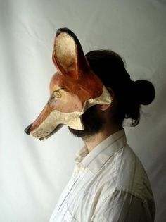 design is mine : isn't it lovely? #mask #fox