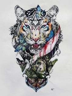 Stop Killing Beauty on Behance #tiger