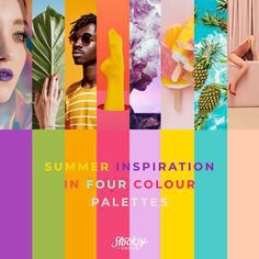 Take in some carefully curated imagery and let these sunshine season palettes compel you to create!