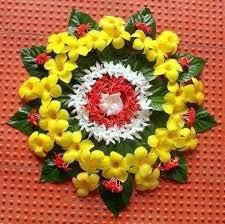Latest Rangoli Designs Images Flowers & Leafs