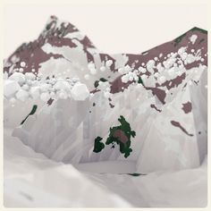where I put my doodles #poly #snowy #low #mountains #3d