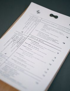 Kyle Marmesh | Graphic Design #print #menu #restaurant #typography