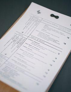 Kyle Marmesh | Graphic Design #print #menu #restaurant #typography