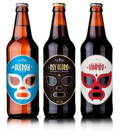 Cervecería Sagrada, Mexican Craft Beer - TheDieline.com - Package Design Blog #white #red #packaging #silver #black #masks #gold #blue