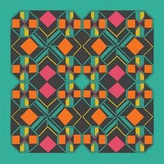 gneural / debbie clapper — PATTERN REPEAT 2 - limited edition giclee print #colorado #pattern #debbie #clapper
