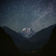 FFFFOUND! #stars #mountain #landscape