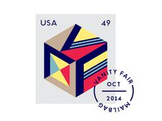 Vanity Fair Mailbag Stamp - Matt Chase | Design, Illustration #illustration #stamp