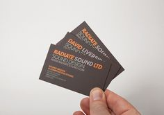 Bradley Rogerson Design Journal » Radiate Sound Identity / Bench.li #cards #business