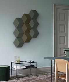 Bang & Olufsen's modular speakers double as wall art #BangOlufsen #LikeNoOneElse #FutureOfSound #BeoSoundShape #InteriorDesign #milandesig