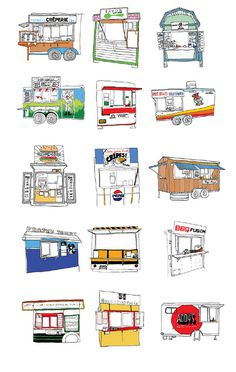 Portland Food Carts Allison Berg #illustration