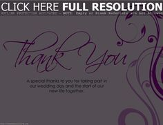Pink Wedding Thank You Card #business #you #card #thank #wedding