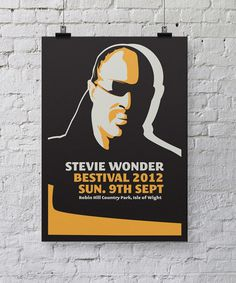 Stevie Wonder Bestival poster design by Chris Hannah #chris #bestival #hannah #gig #design #stevie #wonder #posters #poster #music