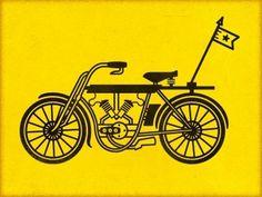 Dribbble - Motorbike by Richie Stewart