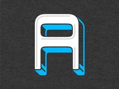 Dribbble - A (new-type) by Gerren Lamson #type #letter #a #typography