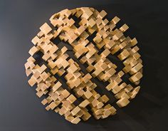 Birds eye view of the world, 3D on the wall #wood #art