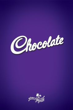 Chocolate #chocolate #cadbury #typography