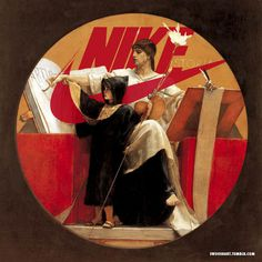 It's Nice That : Miscellaneous: Beautiful Old Masters paintings get the Nike swoosh treatment