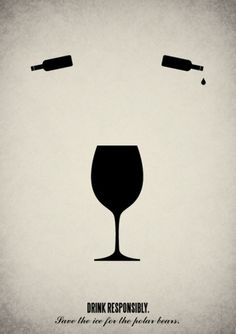 Pictogram illustrations on the Behance Network #drink #tear #wine #glass #bear