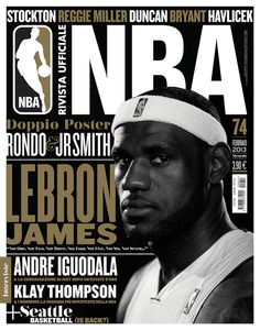 Rivista NBA | Covers 2012 13 by Francesco Poroli #conver #sport #nba #editorial #typography
