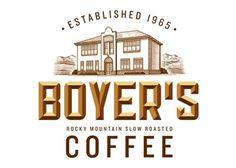 FFFFOUND! | Steven Noble Illustrations: Boyer's Coffee logo #type #bevel #logo