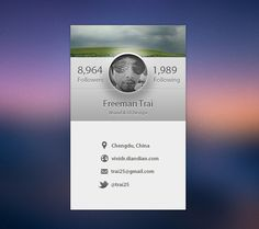 A Profile page. on Behance #design #graphic #interface #ui