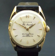 1956 Bulova with 23 Jewels Automatic #analog #dial #mechanical #piece #time #watches