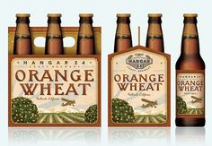Hangar 24 Orange Wheat Six Pack #packaging #beer #label #bottle