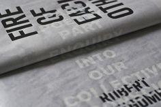 Fire Of Each Other #newsprint #art #publication