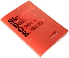 Fonts In Use – Det Kongelige Teater #playhouse #design #graphic #danish #publication #royal