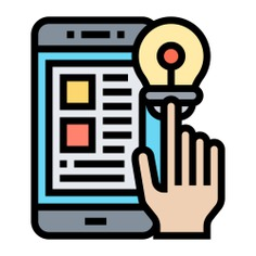See more icon inspiration related to question, test, idea, lightbulb, hands and gestures, online learning, education, smartphone, hand and light on Flaticon.
