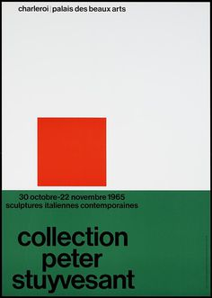 Peter Stuyvesant collection Charlerois | Palace des beaux arts, designer / art director: Crouwel, Wim #poster