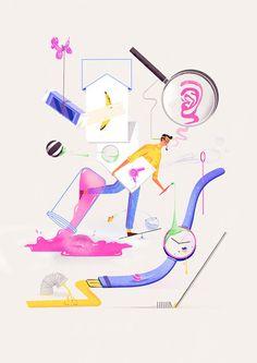jack hudson: Experiments with Interaction #illustration #distortion #surrealism #jack hudson