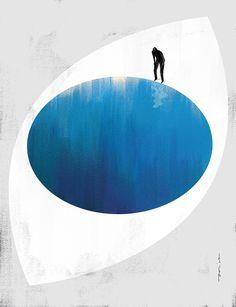 Zwierciadło 08/2015, Paweł Jońca #illustration #eyes #body #parts