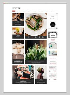 Websites We Love #magazine #food #online #webdesign
