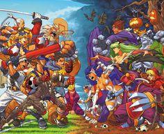 Rival Schools vs Darkstalkers a comic book by artist Mark Brooks