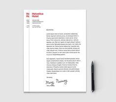 Helvetica hotel #branding #helvetica #letterhead #stationery