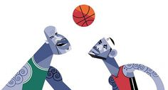 Shaq & Lebron | Flickr - Photo Sharing! #illustration #basketball