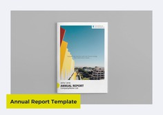 Clean Annual Report Template by GreenDesign