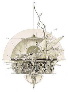 but does it float #slavinsky #drawings #plans #dan #architecture #bar #elevation #absinthe