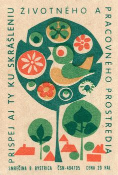 czechoslovakian matchbox label | Flickr - Photo Sharing! #matchbox #illustration #label