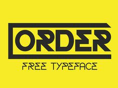 Order Free Display Font