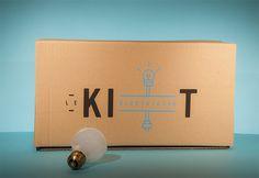 Le Kit on Behance #serigraphy #print #stools #branding